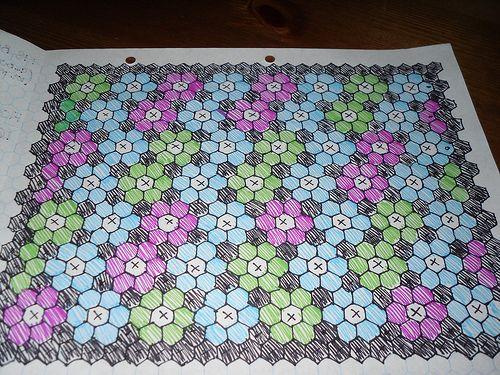 Patchwork Paper Templates - Hexagon Patterns   Hexies   Pinterest ... : hexagon patterns for quilts - Adamdwight.com