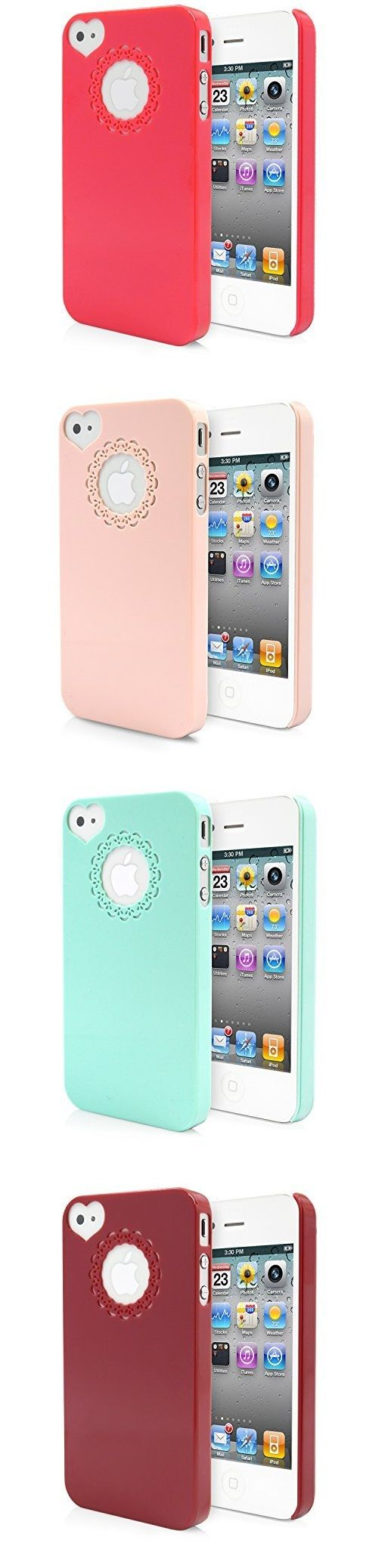 Awesome deals! Time to get your summer accessories ready... sunglasses, bikini and new unique colorful case for iPhone 4 4S! Ultra Slim Thin Premium Lovely Cute  On Heart Love Camera Hole Cover for Girls Lace Logo Design Pattern Perfect for Girls Women Available colors: Mint, Peach/Cream, Rose Pink, Dark Red| MagicMobile
