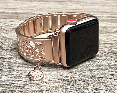 Amazon Com Rose Gold Metal Bracelet For Apple Watch All Series