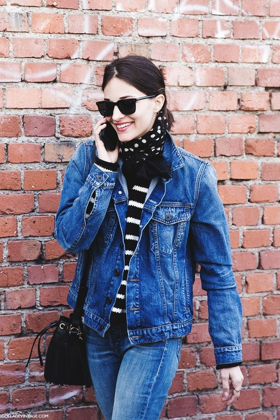 Milan_Fashion_Week-Fall_Winter_2015-Street_Style-MFW-Double_Denim_MAria_Duenas-JAcobs-1: