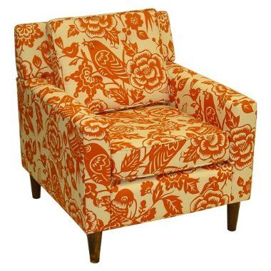 I LOVE this chair with just a little bit of orange!