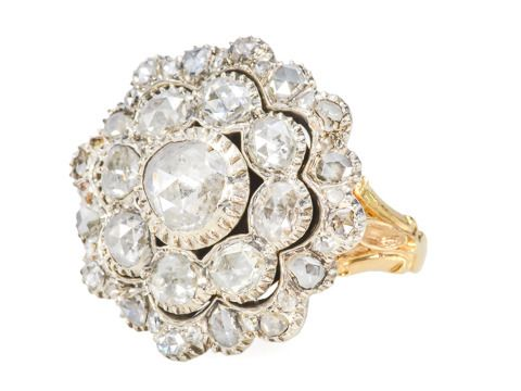 Fantastisch! Rose Cut Diamond Cluster Ring - The Three Graces
