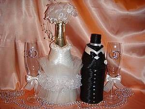 """Съёмные """"одёжки """"на свадебное шампанское. - Ярмарка Мастеров - ручная работа, handmade"""