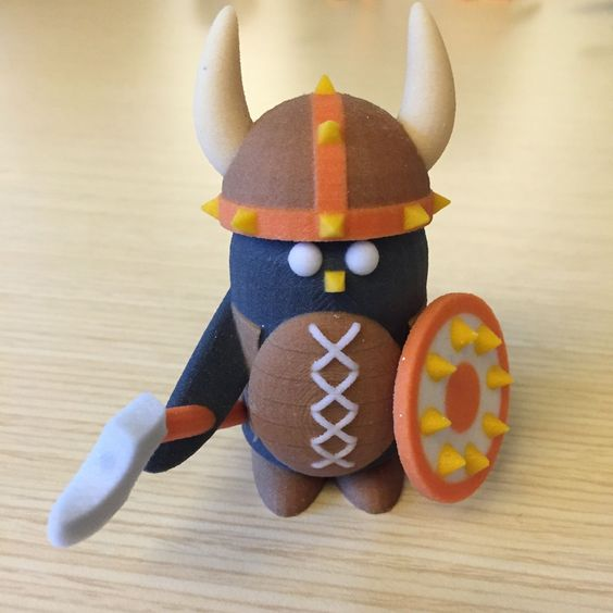 Peter the Penguin as a Viking - 3D Printed model from Tinkercad Community