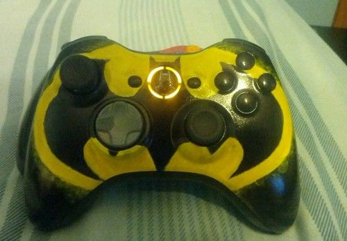 Hand Painted Batman Xbox 360 Controller