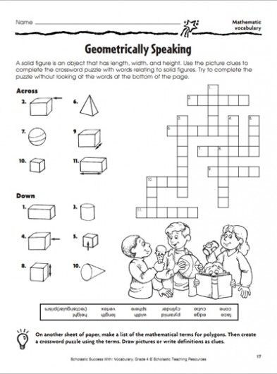 Geometrically Speaking: Crossword Puzzle | Crossword, Geometry ...