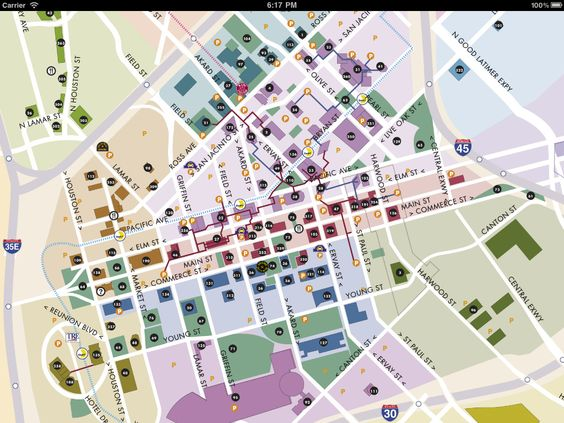Downtown Dallas Map and Guide