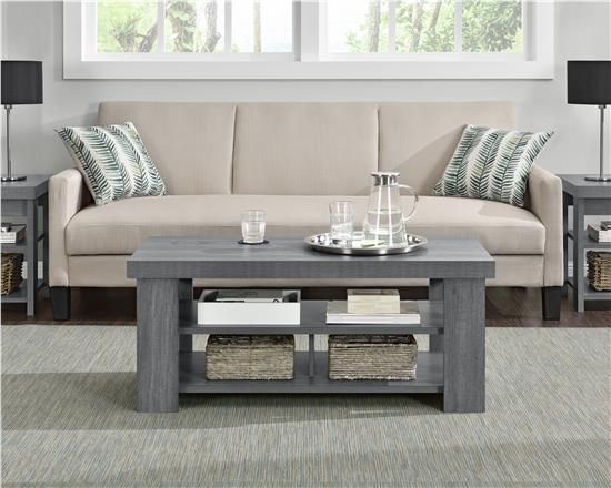 Ameriwood Furniture Hollow Core Contemporary Coffee Table Black