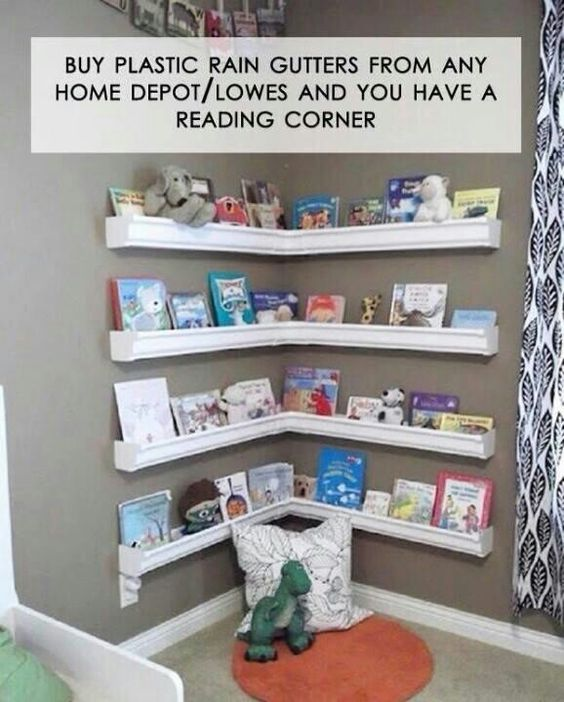 Wow.. Gutters from home depot = reading corner