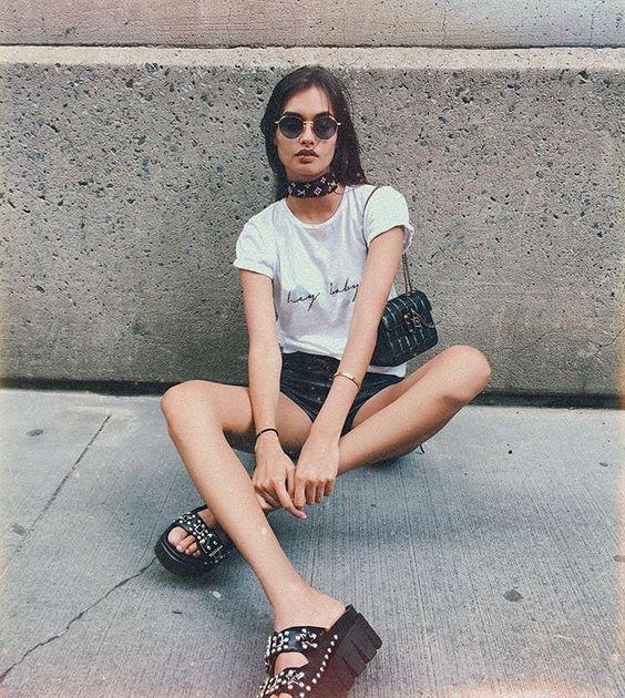 Summer style 👽 #nyc #streetstyle #🌹