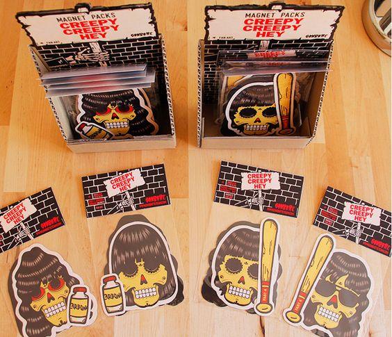 Creepy creepy hey ramones stickers magnets ganbatte team pinterest