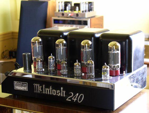 the iconic McIntosh MC240 amp