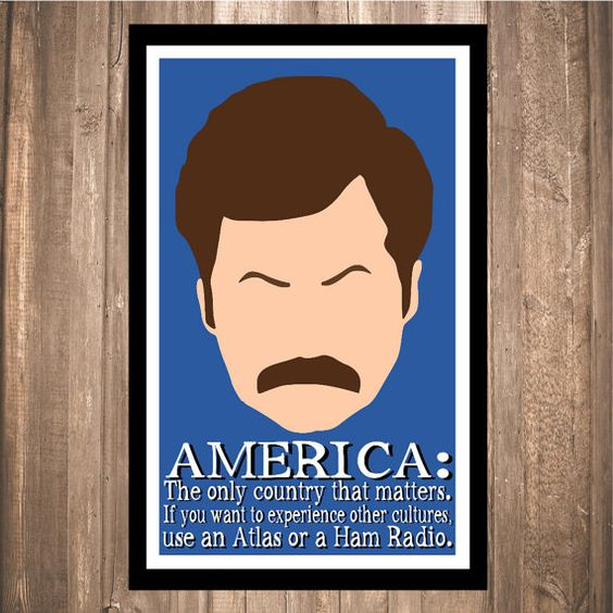 "Ron Swanson ""America"" Print"