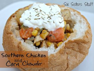 Healthy Southern Chicken and Corn Chowder by sixsistersstuff.com #soup #chicken #healthy meal