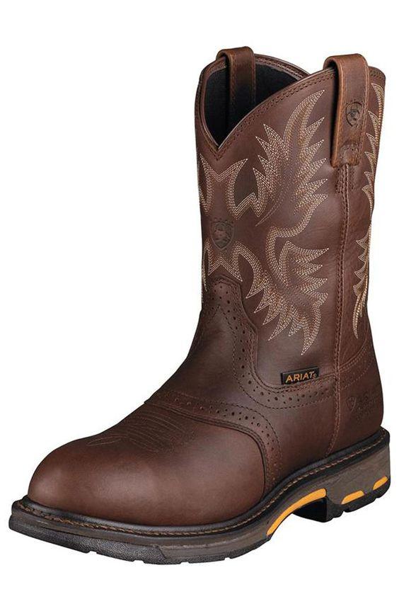 Ariat Pull-On Work Hog Steel Toe Work Boots Make Any Job Easy ...