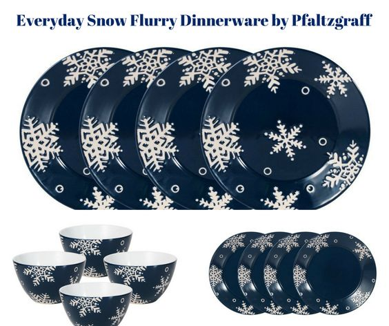 Everyday Snow Flurry Dinnerware by Pfaltzgraff