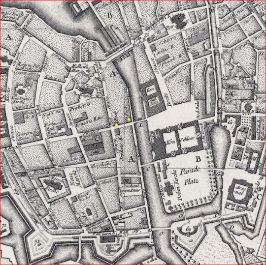 1757 Berlin Schmettlau Plan Museum Insel Berlin Museum