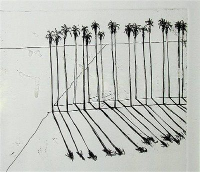 Wayne Thiebaud: Art Wayne, Art Illustrations, Thiebaud Palms, Palm Tree Drawing, Illustration Wayne, Photographs Palm, Thiebaud Lines, Skinny Palm, Palm Illustration