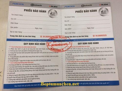 Bếp từ Munchen M50 new 2017 có thời gian bảo hành bao lâu?