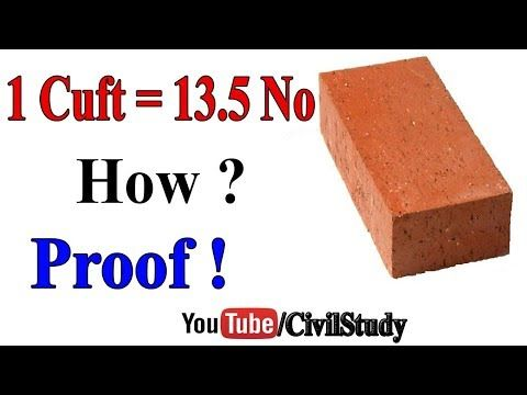 Bricks In One Cubic Feet How Many Bricks In 1 Sq Ft In 2020 Cubic Foot Civil Engineering Design Structural Engineering