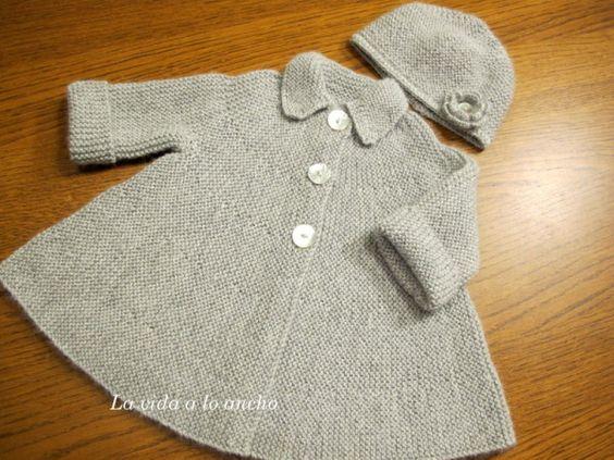 Tejer abrigo para mu eca buscar con google punto beb pinterest patrones tejido y fantas a - Tejer chaqueta bebe 6 meses ...
