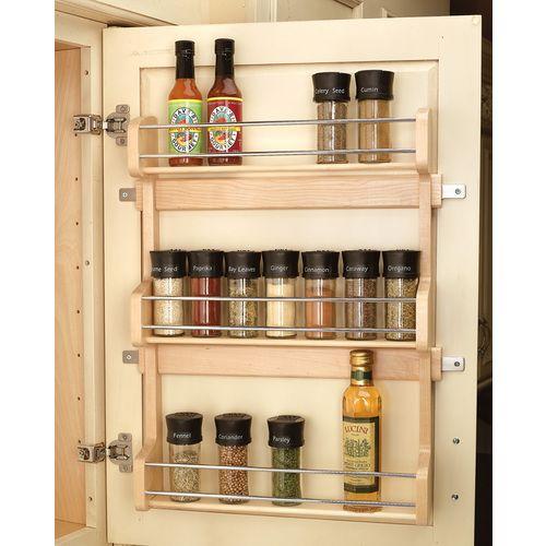 Lowes Spice Rack Pleasing Revashelf Wood Incabinet Spice Rack 4Sr21  Spice Racks Spices Design Ideas
