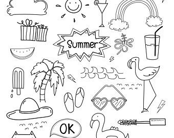 Hand Drawn Doodle Music Clipart Music Clipart Music Notes Clipart Musical Clipart Doodle Art Vector Files Digital Download Clipart How To Draw Hands Summer Drawings Doodle Art