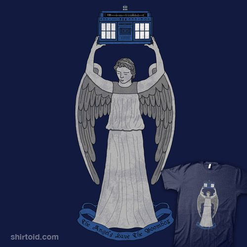 Doctor Who + Say Anything! The angels have the boom box. - AAHAHA