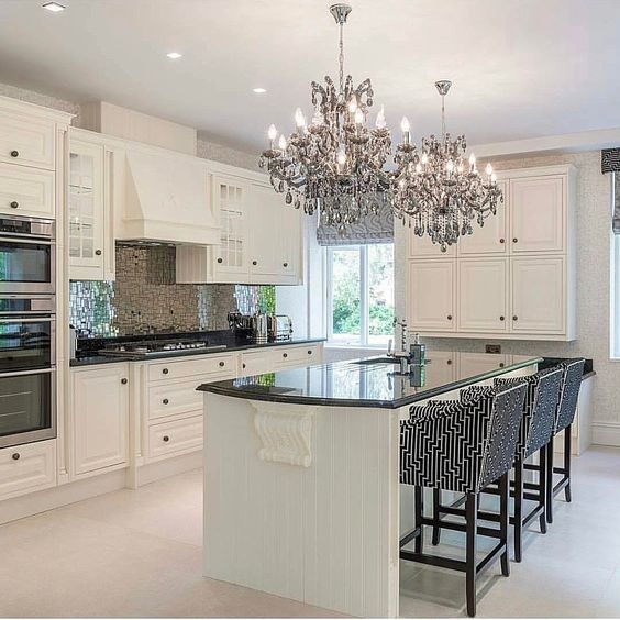 Barratt Homes  Orchard Place Evesham  Interior Designed Magnificent Chandelier Kitchen 2018