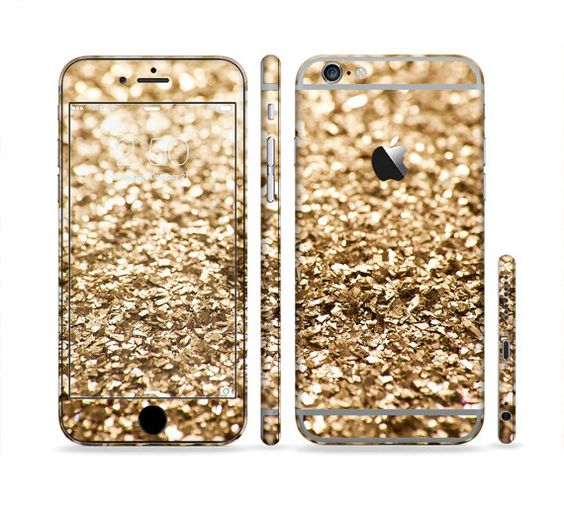 The Gold Glimmer V2 Sectioned Skin for Most Mobile by iinLuv