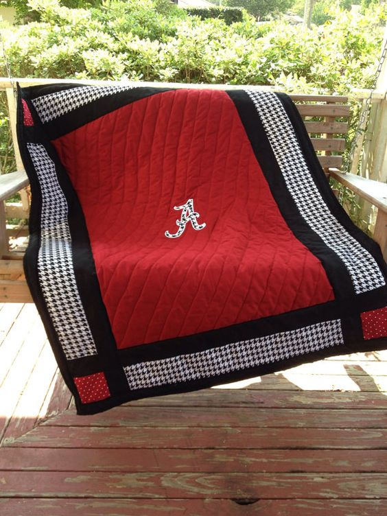 Houndstooth Baby Quilt Alabama Baby Bedding Crib