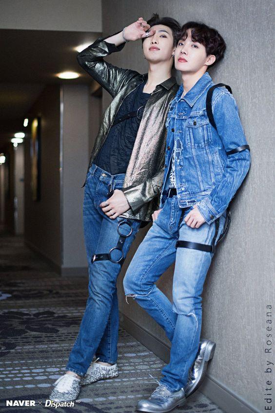 RM dan J-Hope BTS.