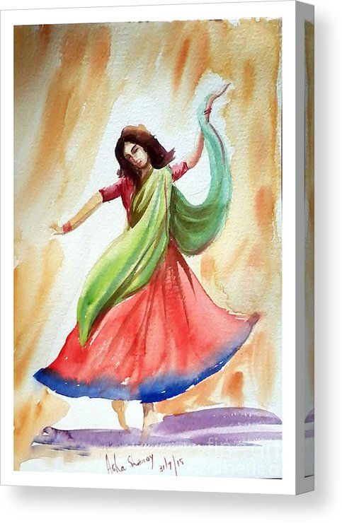 Dance Of Abandon Canvas Print Canvas Art By Asha Sudhaker Shenoy Dance Paintings Art Abstract Art Painting