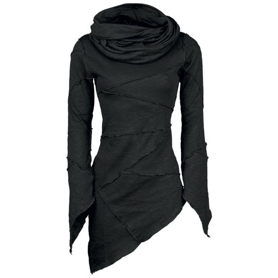 "Queen Of Darkness Girl-Kapuzenpulli ""Templar Hood"" Frauen schwarz - EMP"