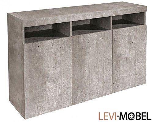 Sideboard Kommode Wohnzimmer Schrank Wohnzimmer Beton Optik Neu