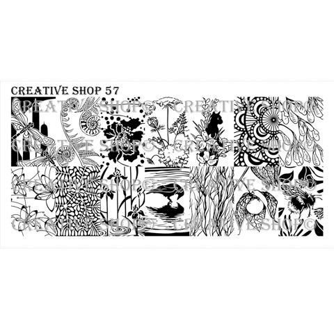 Creative Shop- Stamping Plate- 57