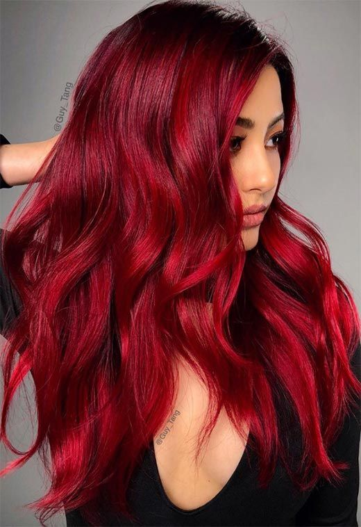 63 Hot Red Hair Color Shades To Dye For Red Hair Dye Tips Ideas Shades Of Red Hair Hair Dye Tips Dyed Red Hair