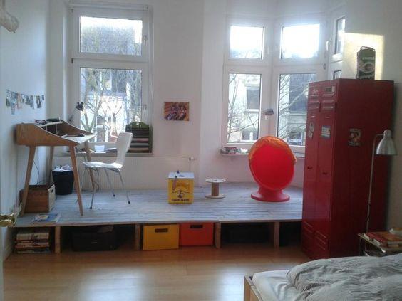 Bitte teilen! Sehr helles möbliertes Zimmer im Kreuzviertel zur Zwischenmiete im September und Oktober - Wohnung in Dortmund-Mitte
