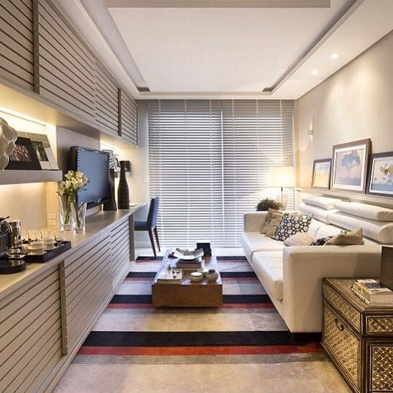 Sala Pequena Aconchegante ~ Pequena sala de tv, clean e aconchegante!!☑️ #ambientes #