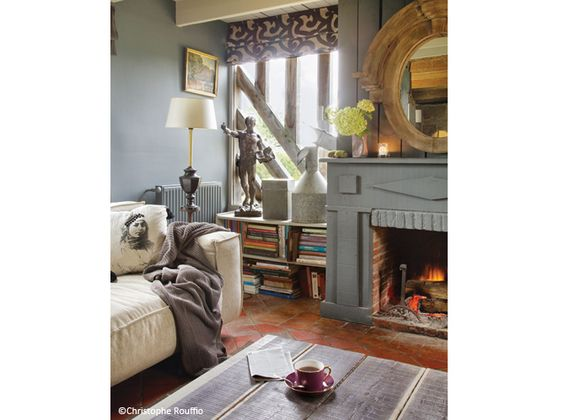 #tons #gris #cheminee estilo ventana, piso