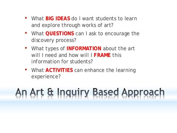 Art & inquiry in any classroom
