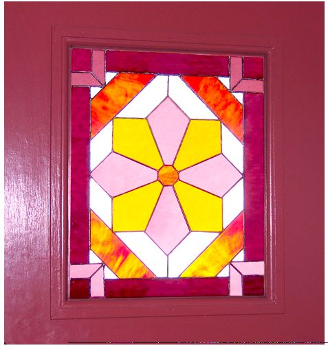Stained glass window - Aimee Fink at it again.