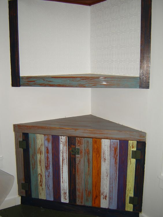 this built in corner cupboard was a challenge it was dark. Black Bedroom Furniture Sets. Home Design Ideas