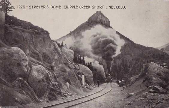 Cripple Creek Colorado St Peter's Dome SHORT LINE RR Antique UNUSED B&W Postcard in Collectibles, Postcards, US States, Cities & Towns, Colorado | eBay