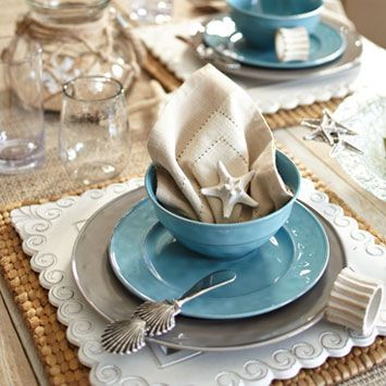 Seaside Place Settings from Pier1.com #Pier1OutdoorParty #Sponsored #MC