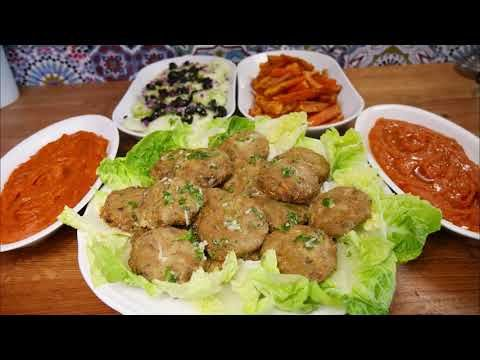 وجبة غداء متكاملة صحية ولذيذة كفتة السردين بالبطاطا الحلوة فريت البطاطا الحلوة صلصة القرع الاحمر Youtube Food Beef Meat