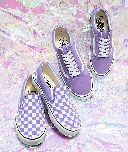 Épinglé par Robyn Viall sur Vans   Chaussures violettes ...
