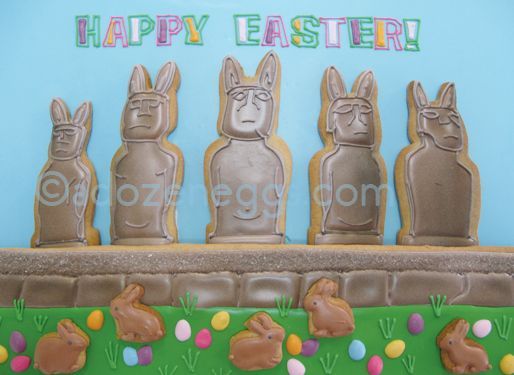 Easter Island Cookies {A Dozen Eggs Bake Shoppe}