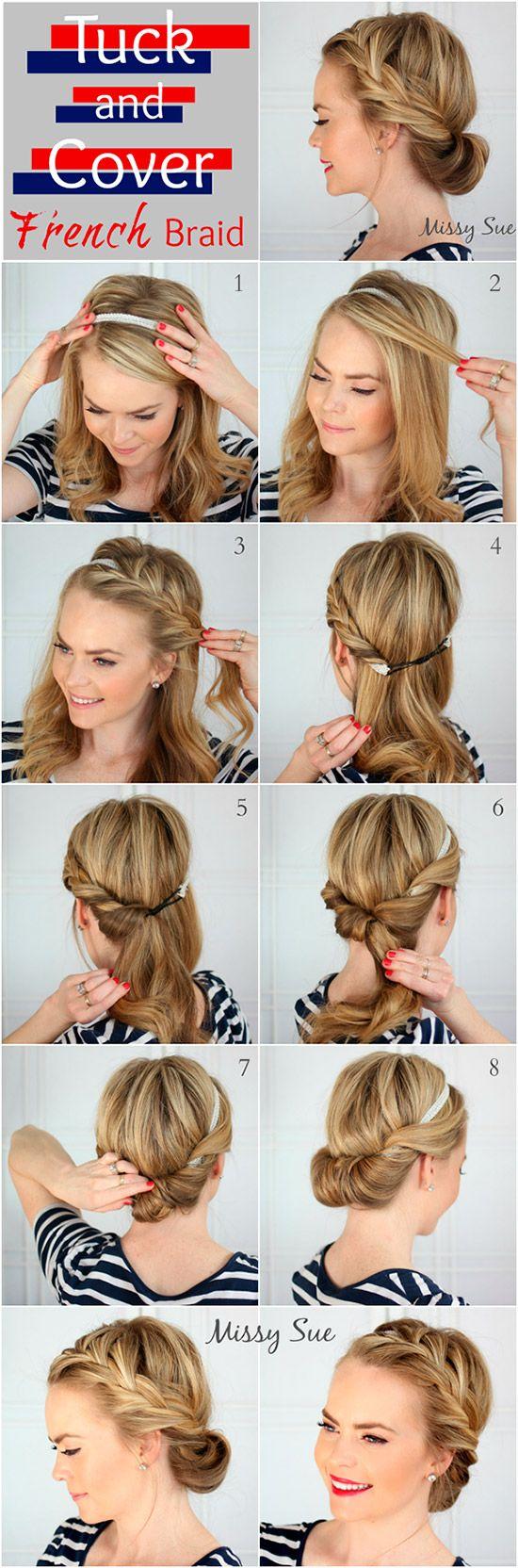 Tutorial peinado recogido con trenza francesa | 7 Tutoriales de peinados fáciles cabello largo-mediano | El Blog de una novia