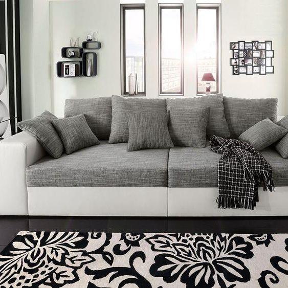Nova Via Big Sofa Ohne Schlaffunktion Grau Kunstleder In 2020